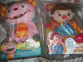Mr Tumble Talking Soft Toy and Hugglemonste summer