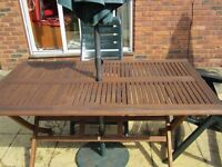 Wooden Garden Table Only
