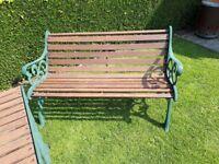 Solid wood & cast iron garden set.