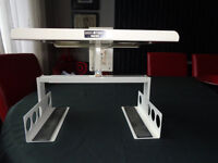 T.V wall mounted stand with brackets for sky/DVD box
