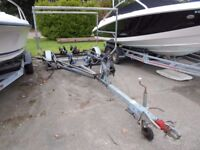 RM Single Axle Boat Stacker Trailer with rollers and hub flushing kit
