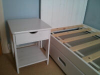 Children's Bed, Mattress and matching Bedside Table (add £10)