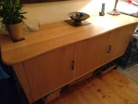 Bespoke Oak Sideboard with wrought Iron legs