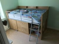 Cabin bed - perfect for a young child.