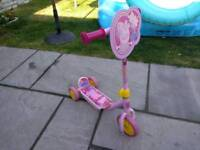 Peppa pig my first tri scooter. Picture has faded a bit on the clip part