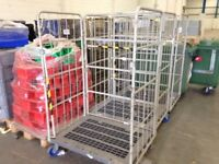 ROLL CAGES QUANTITY OF 4 FOR £120 IDEAL CASH N CARRY SHOP WAREHOUSE INDUSTRIAL FORKLIFT ETC