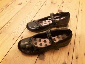 Girls Clarks school shoes size 13F