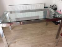 John Lewis Topaz glass top dining table