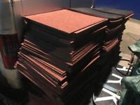 Carpet tiles - over 300 in stock RRP £2.75 each ideal for office home school den