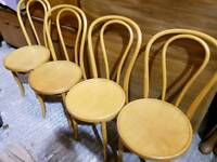Set of 4 Bentwood Dining Chairs