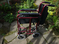 Attended Folding Wheelchair free on collection