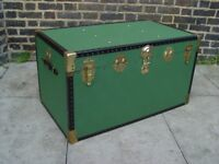 FREE DELIVERY Vintage Green Overpond Steamer Trunk Retro Mid Century Furniture
