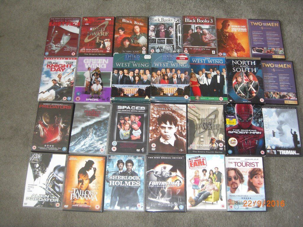DVD Bundle (x27in Hove, East SussexGumtree - DVD Bundle (x27) ~ Large bundle of 27 DVDs including West Wing box sets. Listed below. Red Dwarf I Red Dwarf IV The Truman Show The Amazing Spiderman Spaced (Second Series) Angela's Ashes Two and a half Men (Episodes 1 7) Two and a half Men...