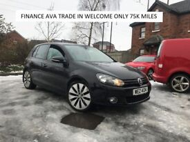 GT TDI GOLF 75K MILES FINANCE AVA TRADE IN WELCOME