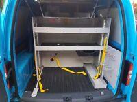 Vw caddy racking van racking storage shelving ex british gas