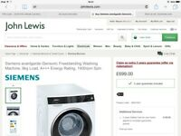 SIEMENS ISensoric 9kg Washing Machine