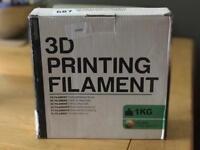 Black 3D printing filament
