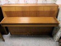 Stunning Oak 'Fuchs & Mohr' Upright Console Piano - CAN DELIVER