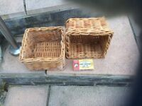 wicker baskets 8 inches x 8 inches x 4 inches deep