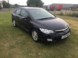 07 REG HONDA CIVIC 1.3 IMA HYBRID ES SALOON 4DR-£10 A YEAR ROAD TAX-FULL HISTORY-FULL HEATED LEATHER