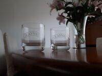 Vintage Glayva Whisky Liqueur Glass Tumblers.