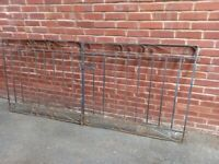 """2 wrought iron gates H 42"""" (107cm) W 48"""" (122cm) £45 for the pair"""