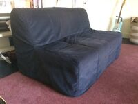 Two-seat Sofa-bed with cover nearly new Ikea Lycksele