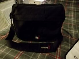 Black baby change bag