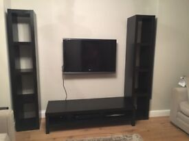 Ikea bookcases x2 and tv bench