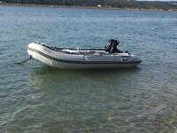 Inflatable boat with Suzuki 5hp four stroke outboard engine for sale