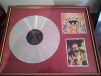 Jimmy Hendrix framed memorabilia
