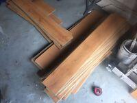 Oak effect laminate flooring approx 10m2