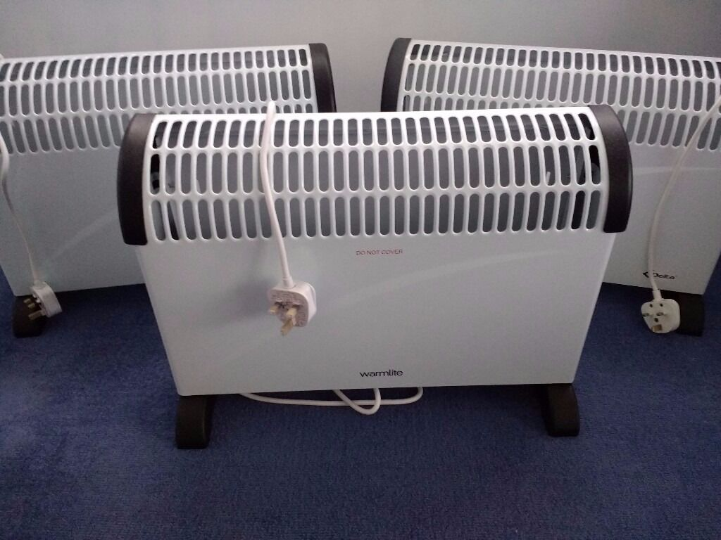 Three Brand New 2 KW Convector Heaters