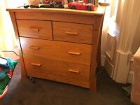 Stunning Mamas and Papas golden oak ocean chest of drawers