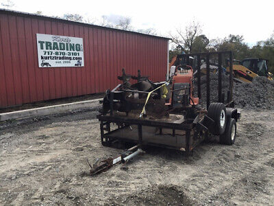 2005 Kanga Power House G520 Stand On Skid Steer Loader W Attachments Trailer