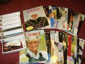 Diana collectors magazine & VHS video set