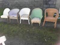 Lloyd Loom style chairs