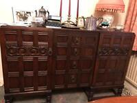 Vintage wooden sideboard