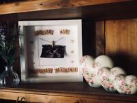 Handmade baby scan box frame
