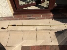 Conservatory Vent Brass Winder Pole With Hardwood Handle