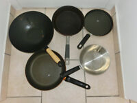 pans, wok, cake tin all for £ 5