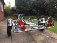 erde single motor x cycle trailer ,aluminium ramp jockey wheel