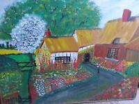 'the cottage' original oil piece