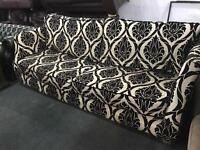 Stunning large 4 seater fabric sofa