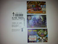 Alton Towers Admission Tickets x4 expiry 21/10/2016