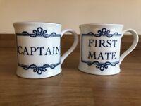 Nauticalia CAPTAIN and FIRST MATE mugs