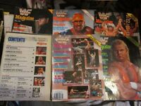 WWE/WWF MAGAZINES X 5 1991 AND 1990 HAS NO COVER AND IS A LITTLE WORSE FOR WEAR