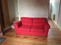 Red 2 seater sofabed