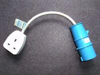 Caravan, Motorhome or Camping Hook Up Socket Cable Adaptor