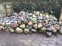 Decorative Rockery and Pond stones for sale. Quality granite a various coloured stones/pebble